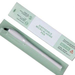 Pluma disponible microblading al por mayor de la ceja con aguja de la aguja de 12/14/17/18U aguja manual Microblade Tool