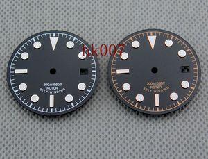 P355 / 356 Corgeut 30.5mm cadran noir pour Miyota8205 / 8215, ETA 2824 Mingzhu 2813 montre cadran de conception simple de haute qualité
