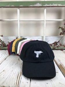 Top vente Uzi Gun Baseball Cap US Mode 2017 Snapback Hip Hop Cap HEYBIG Visière Curve 6 panneau Chapeau casquette de marque casquettes