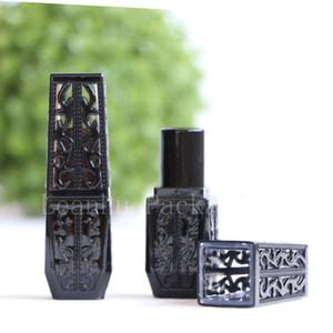 Yeni Varış Benzersiz Boş Siyah Kare Ruj Tüp Makyaj Dudak Parlatıcısı Tüpler Kaplar Kozmetik Dudak Sopa Şişe Dudak Balsamı Tüp
