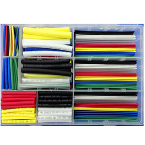 385 Pcs Heat Shrink Tube Tubing Free Storage Box 2:1 Shrink Ratio 600V Voltage Rating UL RoHS Standard for Protection Insulation