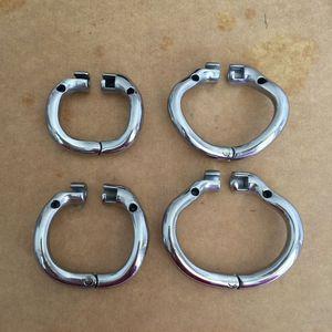 최신 순결 36mm / 40mm / 45mm / 50mm 스테인리스 디자인 반지 철강 금속 순결 반지 데비의 4 남성 스냅 크기 케이지 선택 Vvxki