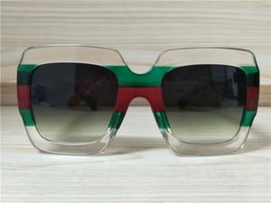 Women Squre 0178 Sonnenbrille Sonnenbrille grün / rot / klar Grey Shaded Brand Fashion Sonnenbrille Neu mit Etui