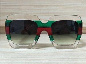 Frauen schattierte graue Mode Squre grün / rot / klar Sonnenbrille Fall Brand New Sonnenbrille Sonnenbrillen mit 0178 CPFNP