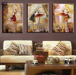 Pure Handicrafts Modern Abstract Art Oil Painting Dancer Girl, Home Wall Decor on High Quality Canvas in custom sizes