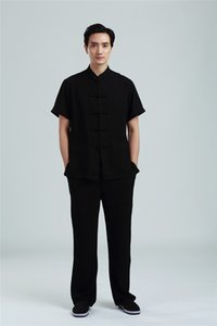 Xangai História Chinês Tradicional conjunto de roupas de Taiji Tai chi uniforme manga curta tang terno artes Marciais Kungfu terno 7 cor
