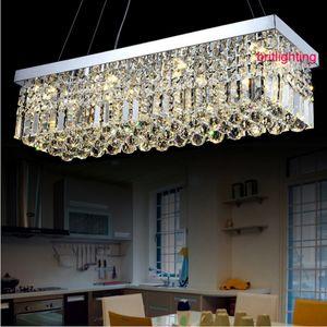 الحديثة قلادة مصابيح معلقة الإضاءة مستطيلة قلادة الأنوار مطبخ غرفة الطعام مطعم مصباح المستطيل نوم الثريات الكريستال