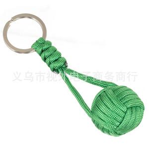 Main-tissage bracelets porte-clés poing singe Chaînes porte-clés alpinisme en plein air corde tressée forpet chien singe