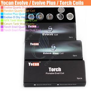 Auténtica Yocan Evolve Evolve Plus-D pandon Cera NYX tanque Cerum atomizador antorcha enail cuarzo de doble bobina plana de hierba seca reemplazo ecig Bobinas