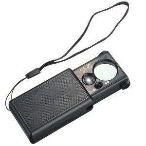 Hot Black 30x 60x Pull tipo joyero de luz LED que identifica la lupa óptica lupa Len Watch Repair Tool