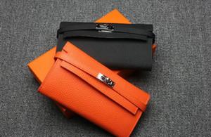 2017 nuovo arrivo donne portafogli di lusso primo strato in pelle di vacchetta titolari di carta di design portafoglio portafoglio borsa lunga