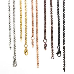 Panpan-Unterstützung für das Mischen! 24 Zoll Edelstahl Quadrat Rolo Kette schwimmende Medaillon Ketten Halskette