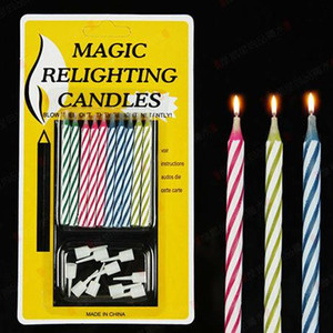 Magic Funny Relighting candle Joke Birthday Party Candele Cake Accessory Christmas Festive Holiday Bomboniere