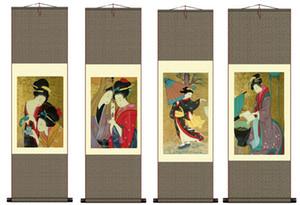 Peinture japonaise décorative portrait peinture figure de chiffon Restaurant japonais suspendu murale style Ukiyo-e japonais
