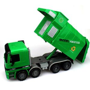 1:22 Gran camión de basura saneamiento camión niños juguetes niños Regalos Inertia Ingeniería coche basura coche modelo vehículo de basura fundido a troquel