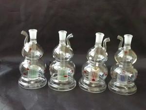 Color bar bottiglia di acqua zucca bong in vetro accessori, Unique Oil Burner Tubi di vetro Tubi di acqua Tubo di vetro Oil Rigs Fumo con contagocce