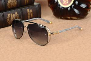 MS-TERAKER Chrome occhiali da sole vintage donne degli uomini occhiali da sole polarizzati grandi della struttura occhiali da sole del progettista di marca Retro Occhiali da sole con il caso originale