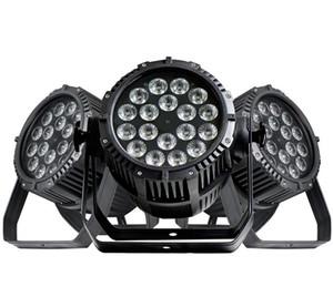 무료 배송 고품질 2 년 보증 18x18W 6in1 RGBAW + UV 방수 LED 파 IP65 야외 도로 케이스