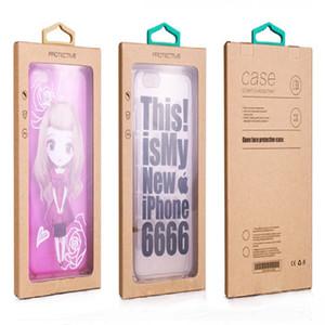 Bunte Persönlichkeit Design Luxus pvc fenster verpackung kleinpaket papierkasten für smart phone handy case geschenk pack zubehör dhl