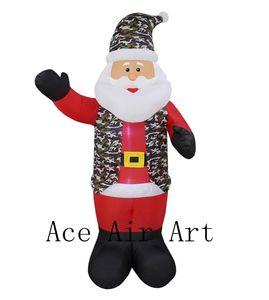 Airblown Şişme Noel Baba Kar Küresi Işıklı Noel Yard Sanat Dekorasyon