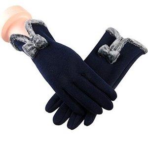 El nuevo otoño y el invierno no se caen Velvet Ladies Touch Screen Plus Velvet Thick Riding Warm Gloves