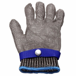 Safety work glove Cut Proof Stainless Steel Metal Mesh Butcher seafood Glove High Performance Level 5 Protection