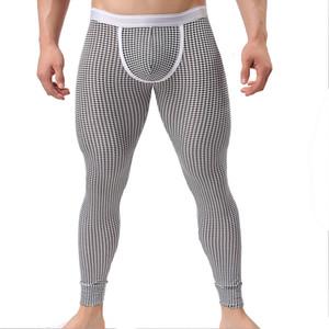 2018 nouveau hiver hommes sous-vêtements thermiques polyester super doux hommes pantalons longs Johns hommes polyester sous-vêtements serrés leggings