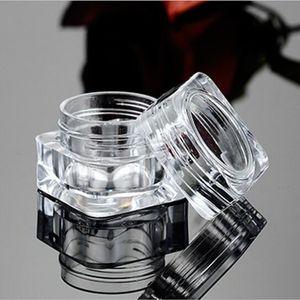 10 unids / lote 5g de Alta Calidad Cubo Cuadrado Tarro de Plástico AS Claro Tarro Crema Pot Mini Contenedor Cosmético Maquillaje Tarro de Muestra Botella Vacía