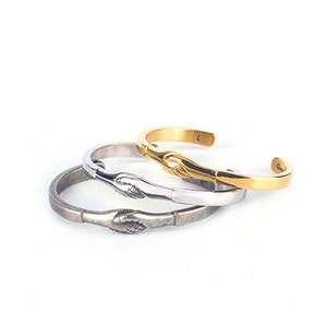 Braccialetti del polsino dell'acciaio inossidabile degli uomini retro di modo europeo all'ingrosso accessori d'argento dei monili dei braccialetti di amicizia di pace d'argento