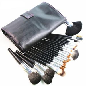 Pleine fonction pinceaux de maquillage ensemble 23 pièces Nature outils de maquillage de cheveux avec étui professionnel cosmétique maquillage brosse