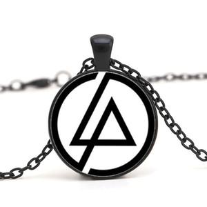 2017 Moda Hayranları Linkin park Logo Kolye Takı 25 MM Dome Cam Lincoln Park Band Kolye Kolye Erkekler Için Parti Hediyeler zincir Gerdanlık