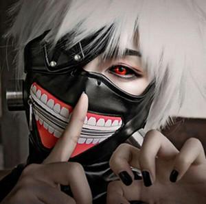 Eco-Friendly Tokyo Ghoul maschera spaventosa maschere Mascaras Halloween Cosplay Kaneki Ken Partito PU cotone sgrassaggio Prop Anime Horror Mask