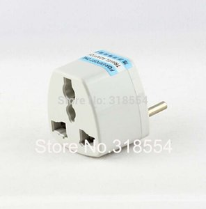 100pcs lot # Universal AU US UK to EU Europe Euro AC Power Plug Travel Wall Adapter Outlet Converter Jack Socket