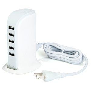 Universal 5V 4A 20W 5 puertos USB Cargador de pared EE. UU. UE Reino Unido Enchufe Adaptador de CA para iPhone Samsung HTC LG teléfono celular