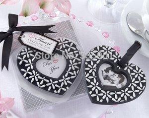 Hochzeitsbevorzugungsgeschenk und Werbegeschenke für Gast - Folgen Sie Ihrem Herz-Schwarzweiss-Gepäckflugzeug-Tag Parteiandenken 100pcs / lot