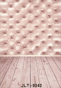pink tufted cloth bed headboard wood floor photography background for wedding children baby computer printed vinyl backdrop for photo studio