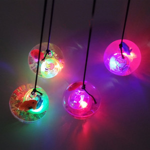 5pcs lot High Quality Flash Ball Kids Bouncy Ball With Led Flashing Light birthday Gift Toys Wholesale Free Shipping