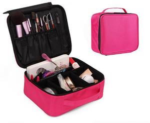 Su geçirmez kadın seyahat için çanta 300D oxford iki katmanın kozmetik organizatör torbayı oluşturan, iş gezisi