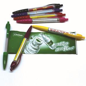 Özel çekme reklam üreticisi plastik fırça lala kalem çubuk afiş kalem özelleştirilmiş korah kalem ve kağıt