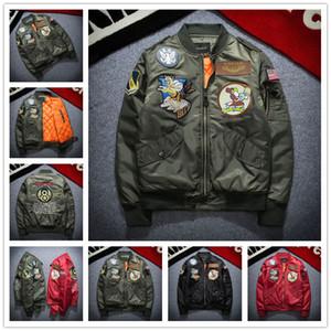 2017 New NASA Bomber Jacket Uomini Ma-1 Giacca Volo Pilot Air Force Maschio Ma1 Verde Militare Giacche moto Militare Cappotti S-3XL