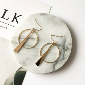 European and American temperament simple retro long paragraph geometric circle earrings ear earrings wholesale free shipping