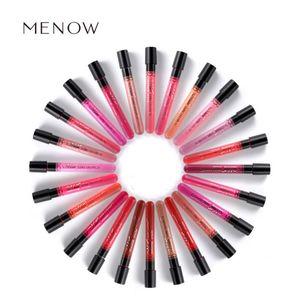 Matte Lipstick Menow Marca 38 colores Velvet Alta Calidad Impermeable Largo Labial Labial Libro Brillo Maquillaje Envío Gratis