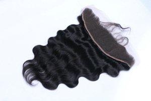 페루의 버진 머리카락 몸의 웨이브 레이스 앞쪽의 폐쇄 중간 무료 세 부분 13 * 2 버진 인간의 머리카락 귀에 귀 레이스 정면 페루