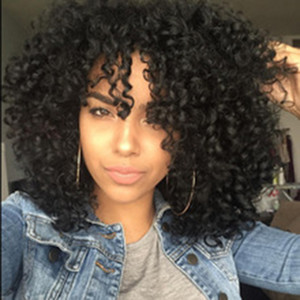 En gros crépus bouclés perruque Simulation cheveux humains perruque afro crépus bouclés pleins perruques en stock livraison gratuite