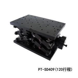 정확한 수동 리프트 Z 축 수동 랩 잭 광학 슬라이딩 리프트 120mm 여행 PT-SD409