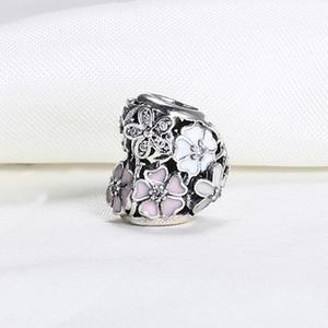 Großhandel Echt 925 Sterling Silber Nicht Überzogene Blume Herz Openwork Europäischen Charms Bead Für Pandora Schlangenkette Armband DIY Schmuck