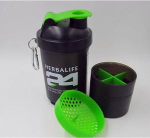 Outdoor Sports Herbalife 24 Abschnitt Wasserflasche Shake Cup Radfahren Camping Portable Vacuum Flask Lip Schwarz Weithalsflaschen 500 ML 18 Unze