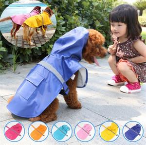 Chien vêtements pour animaux manteau de neige manteau de pluie vêtements chat imperméable vêtements pour animaux printemps et en été la mode 6 couleurs chien Imperméables I068