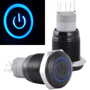ZOOKOTO venta caliente 16mm 12 V Enclavamiento Interruptor de Botón de Metal LED Enclavamiento Botón de Encendido Interruptor de Palanca a prueba de agua