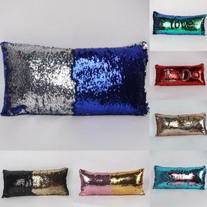 두 색상 장식 조각 베개 케이스 Pillowslip 패션 인어 베개 커버 홈 소파 자동차 장식 쿠션 무료 배송 30 * 60cm WX-P04